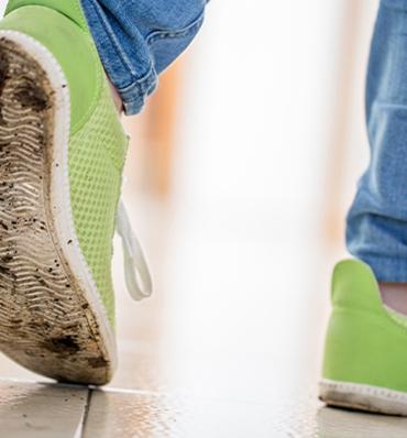 artículo de limpieza sobre cómo usar el aerosol y líquido desinfectante