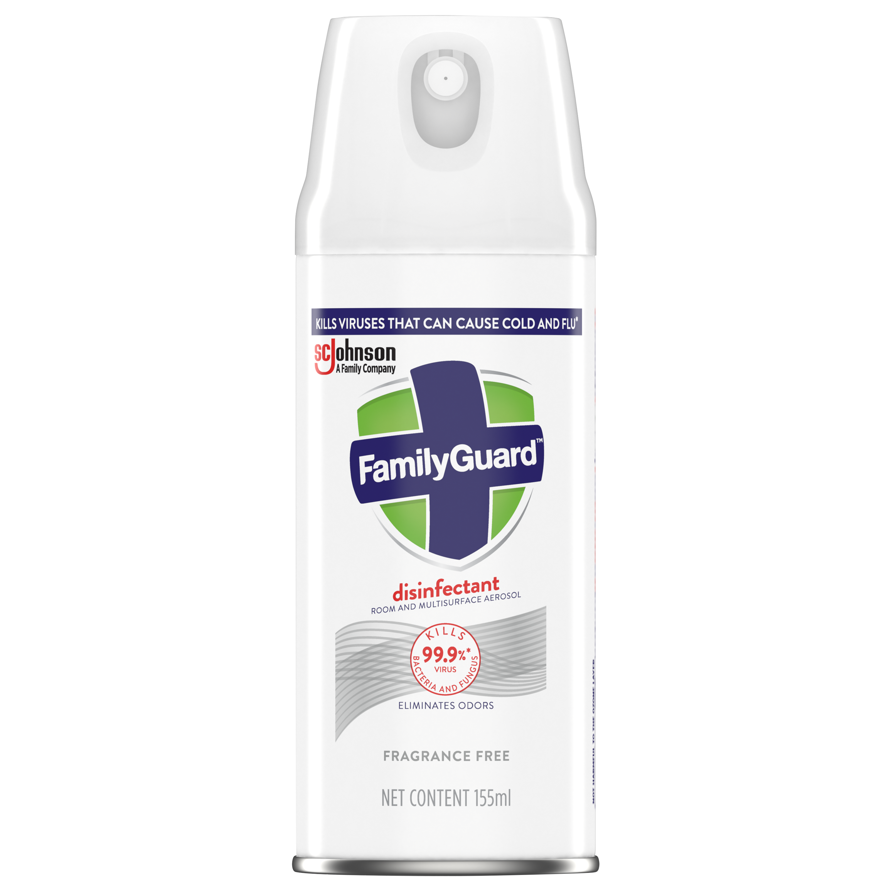 FamilyGuard Aerosol Disinfectant Fragrance Free 155 mL