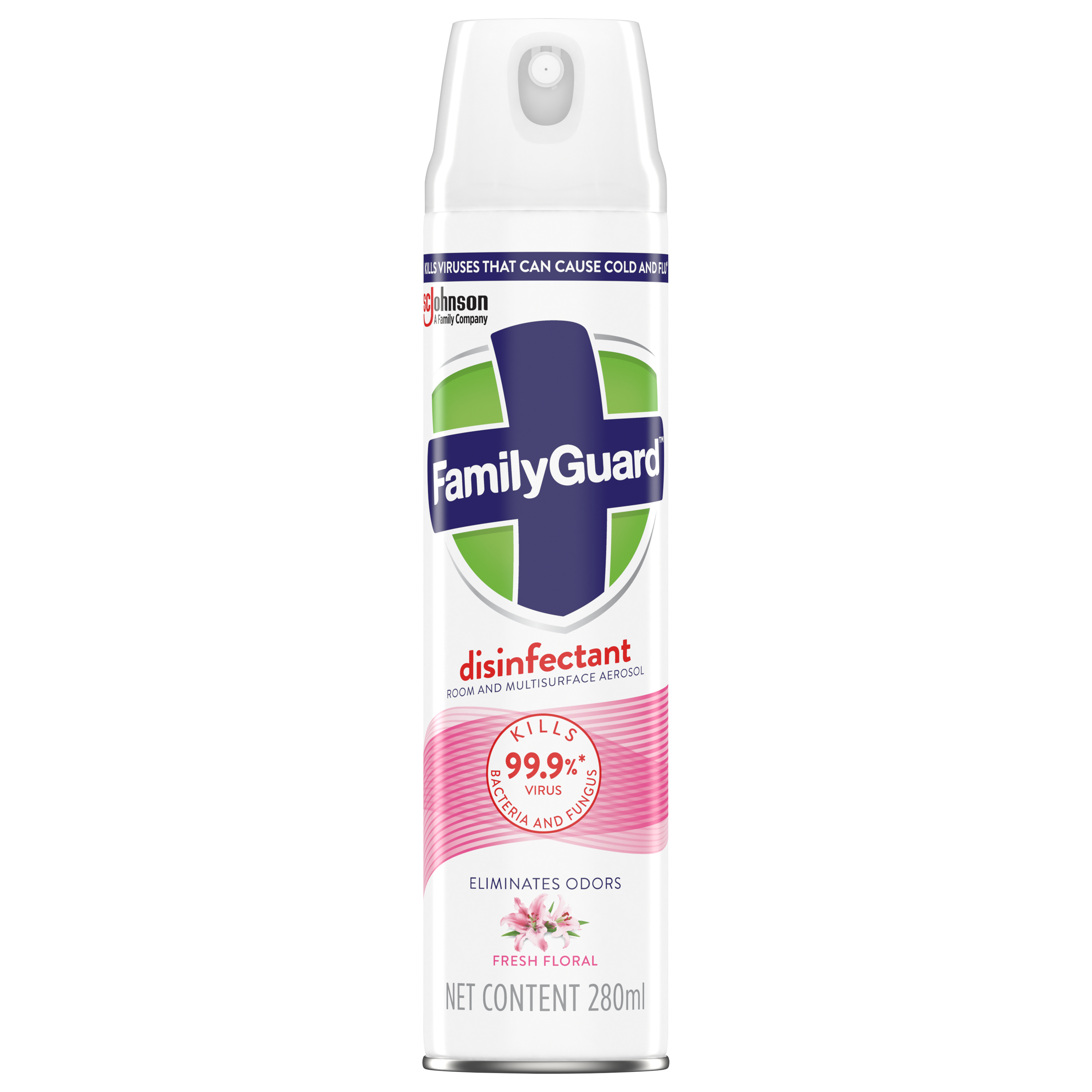 FamilyGuard Aerosol Disinfectant Fresh Floral 280 ml